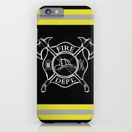 Firefighter - Turnout Gear - Maltese Cross iPhone Case
