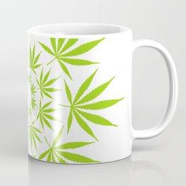Cannabis Leaf Circle (White) Coffee Mug