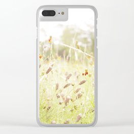 Wildflower Field Clear iPhone Case