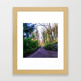 Your road Framed Art Print