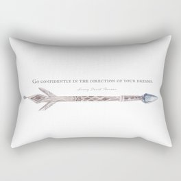 Go Confidently Henry David Thoreau Quote Rectangular Pillow