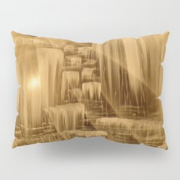 BethofArt* Black and Silver Falls  Pillow Sham