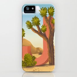 J is for Joshua Tree iPhone Case