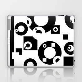 Black& White Rings Rectangle Laptop & iPad Skin