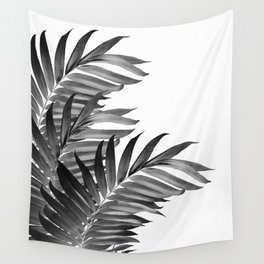 Palm Leaves Tropical Black & White Vibes #1 #tropical #decor #art #society6 Wall Tapestry