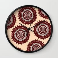 ethnic Wall Clocks featuring Ethnic by Iris López