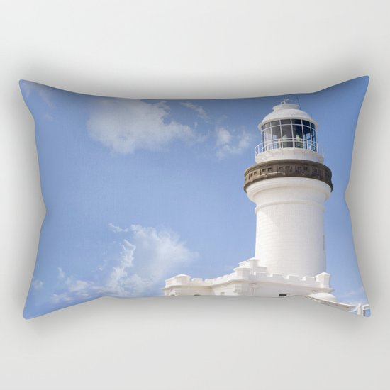 Byron Bay Lighthouse blue Sky Rectangular Pillow