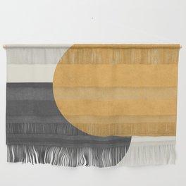 Halfmoon Colorblock - Gold Charcoal Wall Hanging
