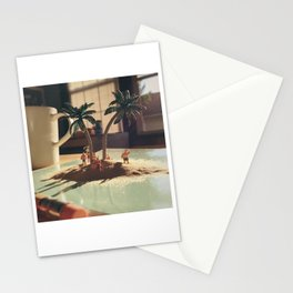 Island sunset Stationery Cards