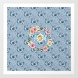 Dreamy Butterflies Roses and Mom Art Print