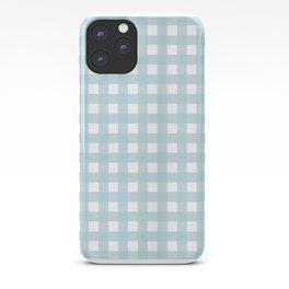 Farmhouse Gingham in Dusty Blue iPhone Case