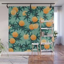 Orange Twist Vibes #1 #tropical #fruit #decor #art #society6 Wall Mural