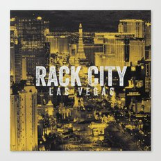 Black Yellow Cool Rack City Las Vegas Photography Canvas Print