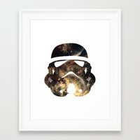 stormtrooper Framed Art Prints featuring Stormtrooper by Benedikte