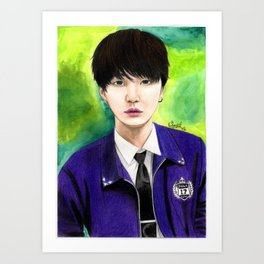 BTS Suga Fanart Art Print