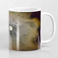 lunar Mugs featuring Lunar Corona  by Elina Cate