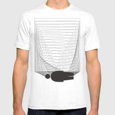 Lost in the space Mens Fitted Tee MEDIUM White