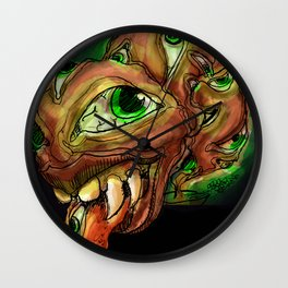 Eyes in the Raw Wall Clock