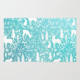 Let it snow! Christmas illustration Rug