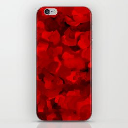 Rich Scarlet Red Gradient Abstract iPhone Skin