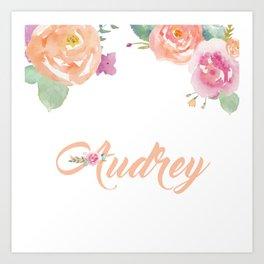 Audrey Florals Art Print