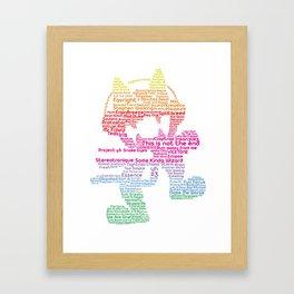 MonsterCat Typography Framed Art Print
