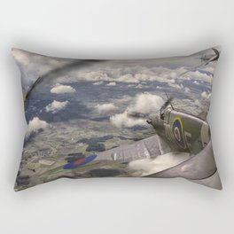 Duel over Britain Rectangular Pillow