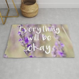 Everything will be Okay - Botanical Photography and Quote #Society6 Rug