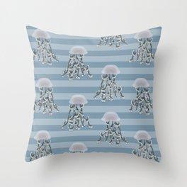 Jellyfish elegance Throw Pillow
