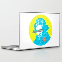 beethoven Laptop & iPad Skins featuring Ludwig van Beethoven 15 by Marko Köppe