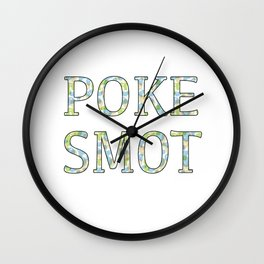 Poke Smot Wall Clock