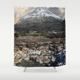Mountains of Scotland - Isle of Skye Shower Curtain