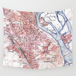 Vintage Map of Kiev Ukraine (1918) Wall Tapestry