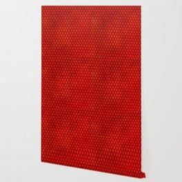 Mermaid Scales - Red Wallpaper