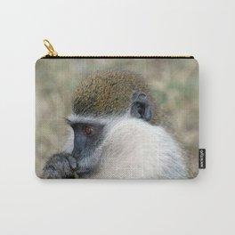 Wild Cute Vervet Monkey Portrait Carry-All Pouch
