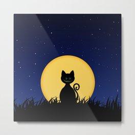 Halloween Cat Metal Print