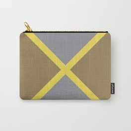 Grey Yellow Brown X Shape Design Solid Colors 2021 Color of the Years and Accent Hue Carry-All Pouch
