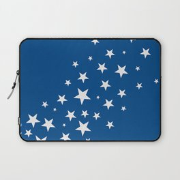 Simple Stars On Blue Art Laptop Sleeve