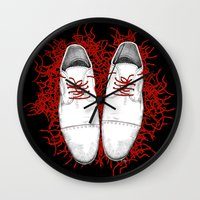 shoes Wall Clocks featuring Shoes by Tamar Kasparian