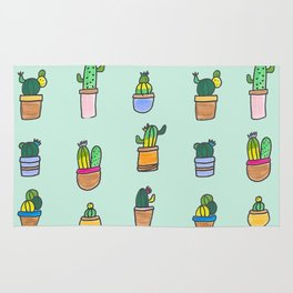 Cactus and Succulents Rug
