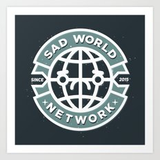SAD WORLD NEWS NETWORK Art Print