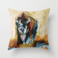 Blue Buffalo Throw Pillow