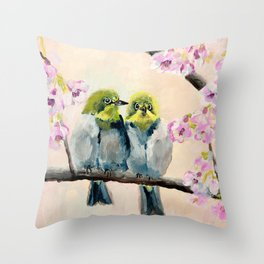 Baby Birds Throw Pillow
