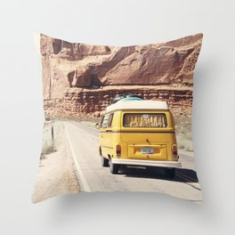 Going on a road trip Throw Pillow