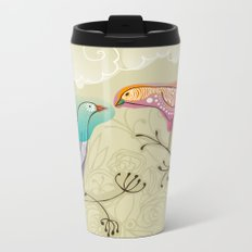 couple of beautiful love birds Metal Travel Mug