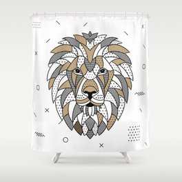 Lion Chocolat Shower Curtain