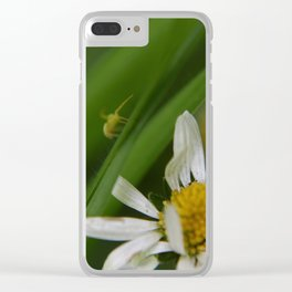 The flower and the friend Clear iPhone Case
