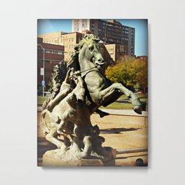 Kansas City J.C. Nichols Fountain Fall 2011 Metal Print