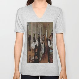 Edgar Degas's A Cotton Office in New Orleans Unisex V-Neck