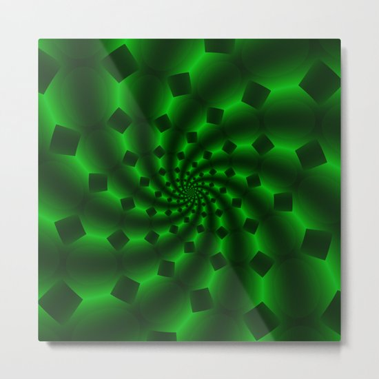 Tess Fractal in Magical Emerald Green Metal Print